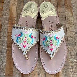 Jack Rogers 1960 Embroidered Leather Sandals